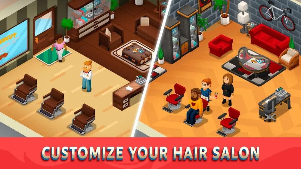 تحميل Idle Barber Shop Tycoon مهكرة للاندرويد